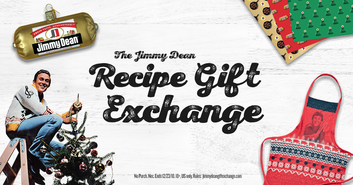 Cook a recipe, get a gift! The Jimmy Dean Recipe Gift Exchange has arrived! Click below: